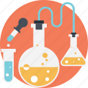 biochemistry, chemical equipment, chemistry lab, lab experiment, scientific research icon