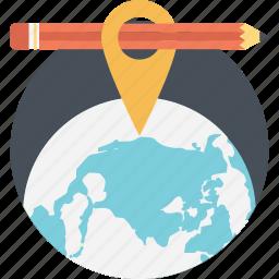 geography, global education, international education, literature, worldwide education icon