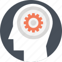 brain fitness, creative brain, creative thinking, headgear, thinking icon