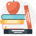 apple education, apple on book, back to school, education concept, learning