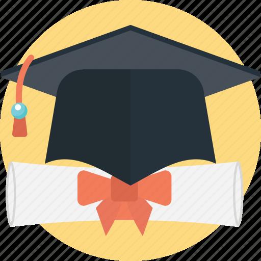 deed, degree, diploma, graduation, scholars icon