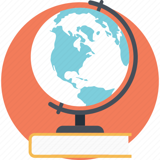 global education, globe book, international education, modern education, worldwide education icon