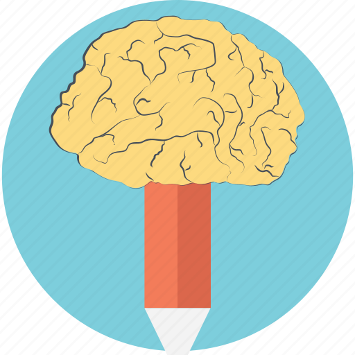 Ability, brain pencil, creativity, innovation, intelligence icon - Download on Iconfinder