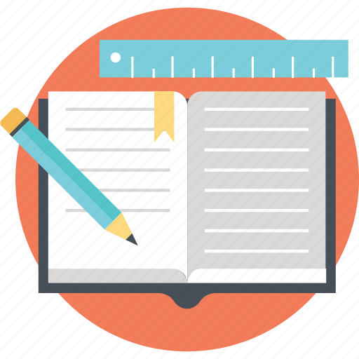 diary, jotter, notepad, stationery, writing icon