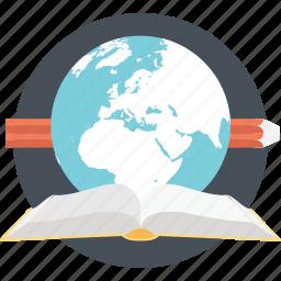 distance learning, elearning, global education, modern education, worldwide education icon