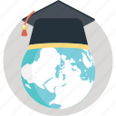 distance learning, elearning, global education, modern education, worldwide education icon