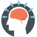 brain, brain idea, brainstorming, intelligence, mind icon