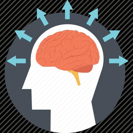 brain, brain idea, brainstorming, intelligence, mind icon