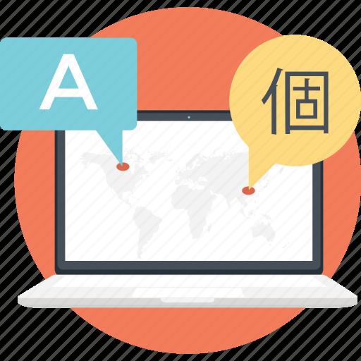 messaging, online chat, social blog, social media, web blog icon