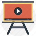 modern studies, video instruction, video lecture, video lesson, video presentation icon