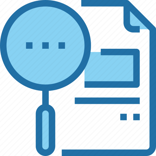 document, education, file, learning, research, school, search icon