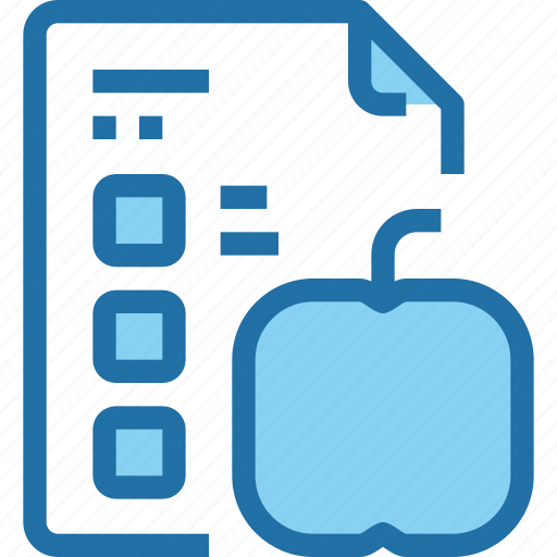 education, file, learning, list, paper, school, test icon