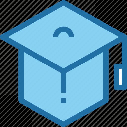 education, graduation, hat, learning, school icon