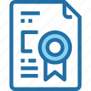 certificate, document, education, file, learning, school icon