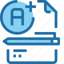 document, education, file, learning, school, testing icon