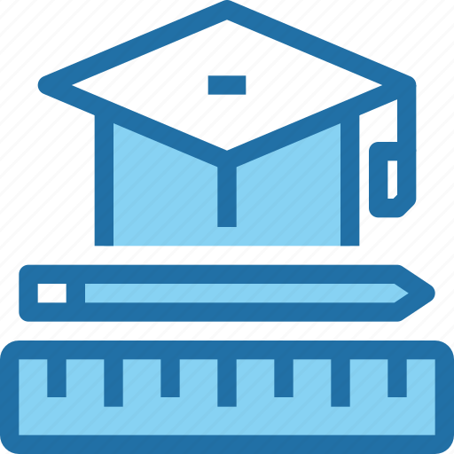 Education, hat, learning, pencil, school icon - Download on Iconfinder