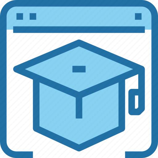 Browser, education, hat, learning, online, school icon - Download on Iconfinder