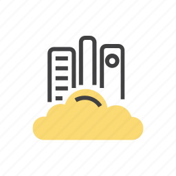 cloud, computing, library, server, storage icon