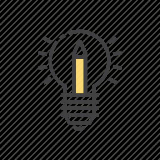 abstract, bulb, creative, idea, teaching icon