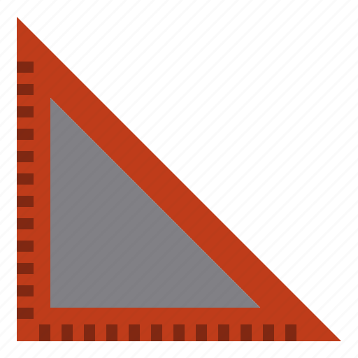 business, education, job, ruler, triangle, work icon