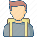bag, boy, education, learning, school, student, study icon