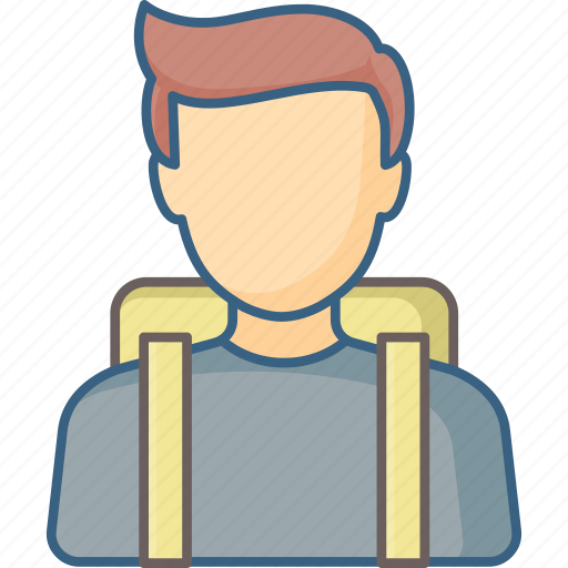 Bag, boy, school, student, education, learning, study icon - Download on Iconfinder