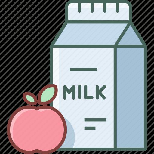 Bottle, breakfast, milk, apple, beverage, drink, fresh icon - Download on Iconfinder