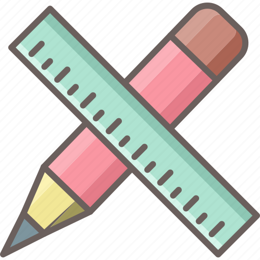 Pencil, ruler, draw, edit, stationary, stationery, write icon - Download on Iconfinder