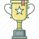 trophy, achievement, award, medal, prize, winner