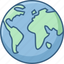 country, globe, location, map, navigation, world icon
