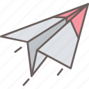 paper, plane, post, send
