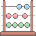 abacus, calculator, finance, funds, learning, school, university icon