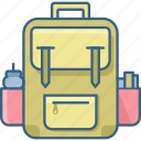 bag, education, knowledge, learning, school, student, study icon