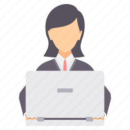 business, busy, female, lady, school, woman, working icon
