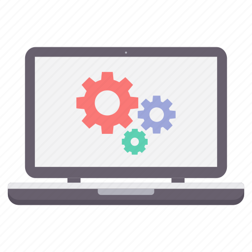 configuration, control, gear, laptop, options, preferences, settings icon