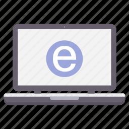 connection, exploral, internet, laptop, network, seo, web icon