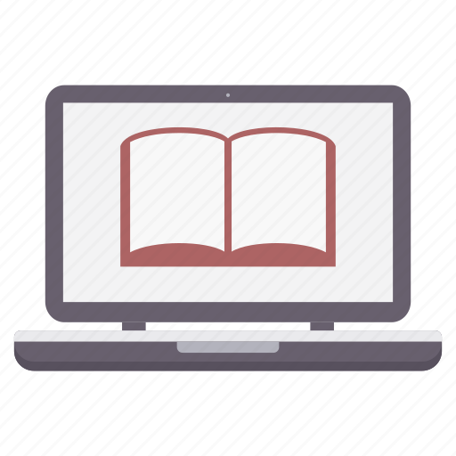 education, elearning, knowledge, laptop, learning, notebook, school icon
