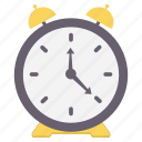 alarm, alert, bell, punctuality, puntual, time, warning icon