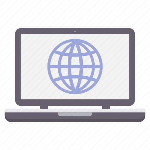 browser, globe, internet, laptop, network, online, seo icon