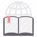 book, bookmark, education, elearn, elearning, internet, learning icon