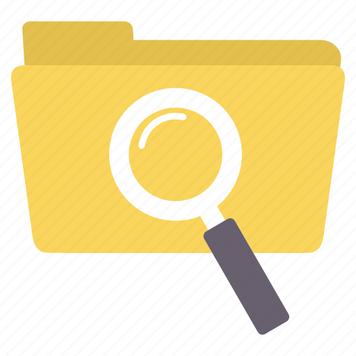 data, document, file, find, folder, magnifier, search icon