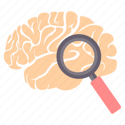brain, find, idea, magnifier, search, seo, zoom icon