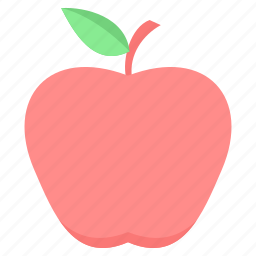 apple, food, fruit, health, healthy, red, sweet icon