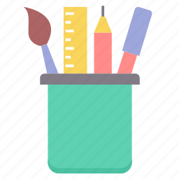 geometry, pen stand, school, staionary, stationery, tool, tools icon
