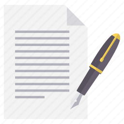 document, edit, page, paper, pen, write, writing icon