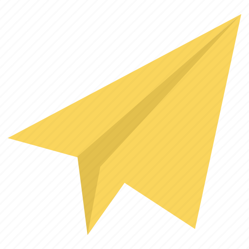 message, paper, plane, post, send icon