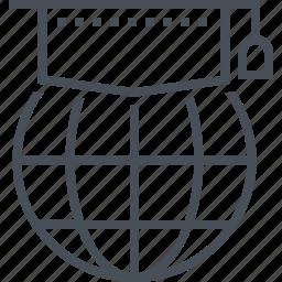 cap, earth, education, globe, graduation, hat, university icon