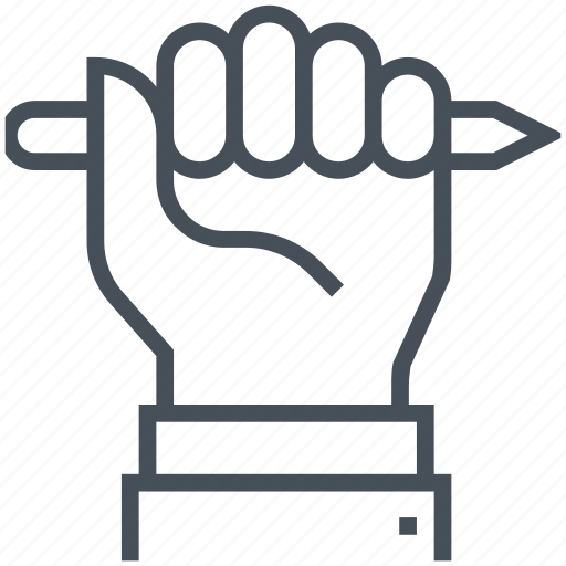 education, hand, hold, pencil, rights icon