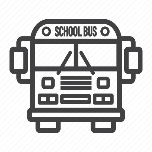 auto, bus, education, school, transport, transportation, vehicle icon