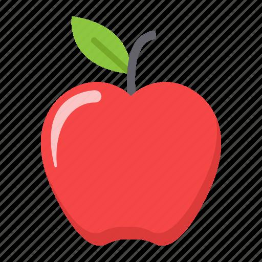 apple, diet, food, fresh, fruit, health, vegetarian icon